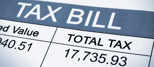 Help on adding your tax bill